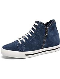 """CHAMARIPA-Mens chaussures de levage de poids chaussures de sport en cuir bleu -Taller 6cm / 2.36 """"-H62B08K106D"""