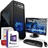 Komplett PC Gaming/Office/Multimedia|Windows 10 Pro 64Bit|AMD Hexa-Core FX-6300 6x41GHz Turbo|Nvidia GeForce GTX 750 2GB GDDR5|8GB DDR3 RAM|1000GB HDD|USB 3.0|HDMI|Computer|3 Jahre Garantie