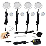 aiboo Wireless LED de bajo armario 12 V Iluminación Regulable con RF controlador, y 4 Pcs Luces...