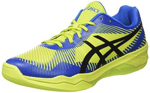 Asics Volley Elite FF, Scarpe da Pallavolo Uomo, Verde (Energy Green/Directoire Blue/Black 7743), 44 EU