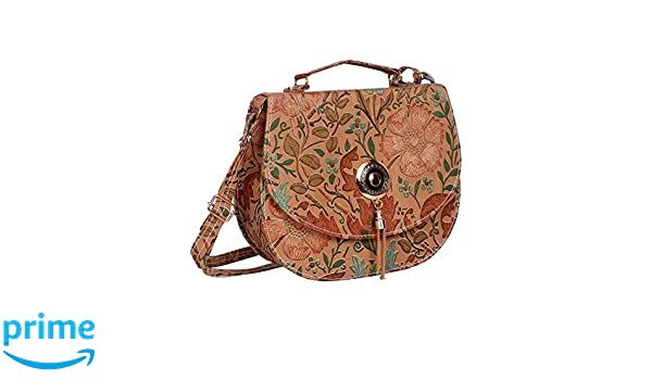ee034b4e5f ratan s Women s Faux Leather Sling Bag (Rust)  Amazon.in  Shoes   Handbags