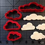 Zoomy Far: Arc en Ciel et Un Ensemble de Nuages ​​Cookie Cutter Custom Made 3D Imprimã© Fondant Cookie Cutter Moule Biscuit pour Outils de Dã©Coration de Gã¢Teau: Nuages ​​3 inchN0215