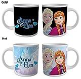 Frozen - Anna & Elsa - Thermoeffekt Tasse - Größe Ø8,5 H9,5cm