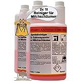 2x 1l (2x 1000ml) limpiador para dispensador de nata Espuma de Leche limpiador de boquillas limpiador de espuma de leche