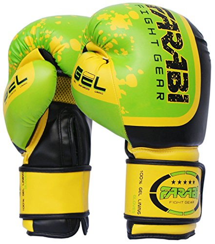farabi-pro-fighter-boxing-gloves-sparring-gym-bag-punching-focus-pad-mitts-green-10oz-green-14oz