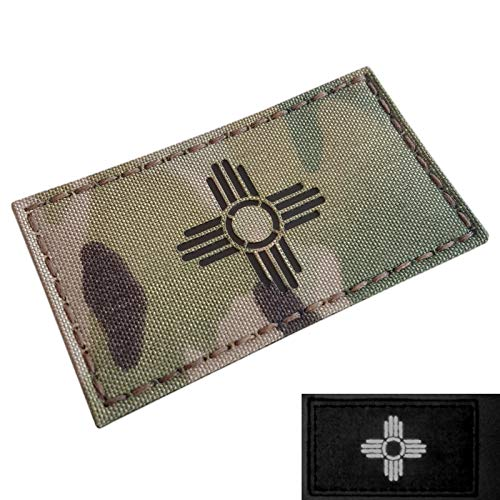 Multicam IR New Mexico Zia Sun Flag 2x3.5 Infrared IFF Tactical Morale Hook&Loop Patch
