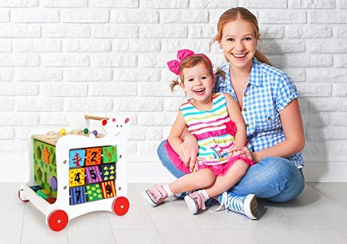"""Lauflernwagen""""Bär"""", Lauflernhilfe aus Holz, vielseitig bespielbares Motorikspielzeug/Lernspielzeug, Babyspielzeug ab 12 Monaten - 4"""