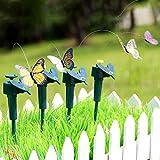QFYUTEOP1pc Vibration Énergie Solaire Volant Papillon Danse Volant Battant Papillons Jardin Décoration