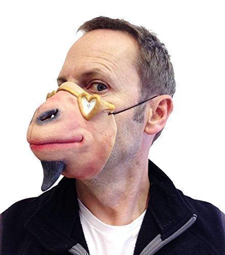 Lustig Halbes Gesicht Ziege Latex Maske Schaf Fetisch Brillen Kostüm Junggesellenabschied
