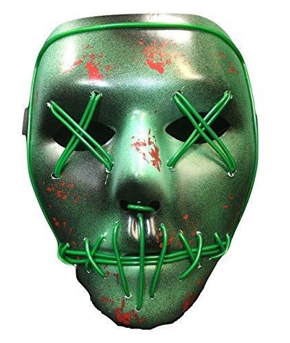 Purge Kostüme Halloween Für (The Purge Wahl Jahr leuchtend LED Halloween Maske - universell)