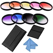 Cam di ulata Slim Gradual Color Filter Set Kit and Wallet Filtro Pouch for Sony Alpha A6300A6000A5000a5100NEX 56, Nikon 1AW1J1J2J3J4J5S1S2V1V2V3Digital DSLR Camera