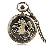 Antike Taschenuhr, heiße neue Fullmetal Alchemist Taschenuhr für Männer, Taschenuhr Geschenke