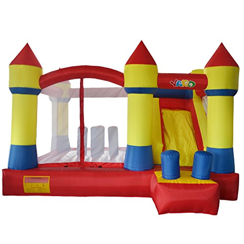 Kids Bouncy Castle Inflatable Jumping Bouncer with Slide 13.1*12.5*8.2ft