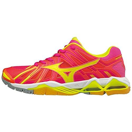 Mizuno Wave Tornado X2 Wos, Chaussures de Volleyball Femme rose/orange/jaune