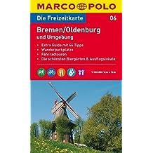 MARCO POLO Freizeitkarte Bremen, Oldenburg und Umgebung 1:100.000