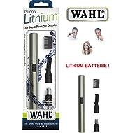 Wahl 42507 Épilateur nasal lavable avec lame en acier inoxydable et batterie Li-ion