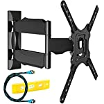 Invision® Ultra Slim Tilt Swivel TV Wall Bracket Mount - For 24 - 55 Inch LED LCD Plasma & Curved Screens - Now Includes 1.8m HDMI Cable (HDTV-E)