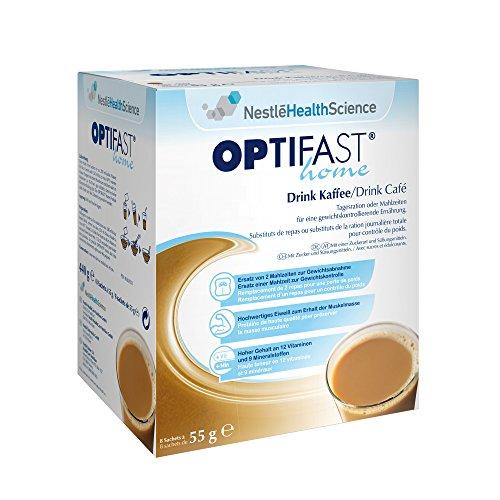 OPTIFAST home von Nestlé Health Science - Drink Kaffee, (8 x 55g) Päckchen