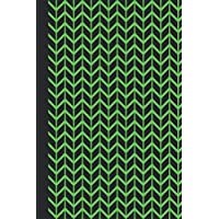 Sketchbook: Geometric Design (Chevron/Green) 6x9 - BLANK JOURNAL WITH NO LINES - Journal notebook with unlined pages for drawing and writing on blank paper