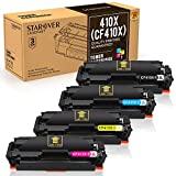 STAROVER 4x Kompatibel Tonerkartuschen für HP 410X 410A (CF410X - CF413X) Toner Patronen, für HP Color LaserJet Pro M377dw M452nw M452dw M452dn M477fdn M477fnw M477fdw