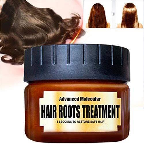 Luccase Braun Haarmaske 60 ml Natürlichen Pflanzlichen Arganöl Entgiftende Haarmaske für Zügelt Krauses Stumpfes Haar Styling -