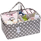 Hinwo Baby Diaper Caddy 3-Compartment Infant...
