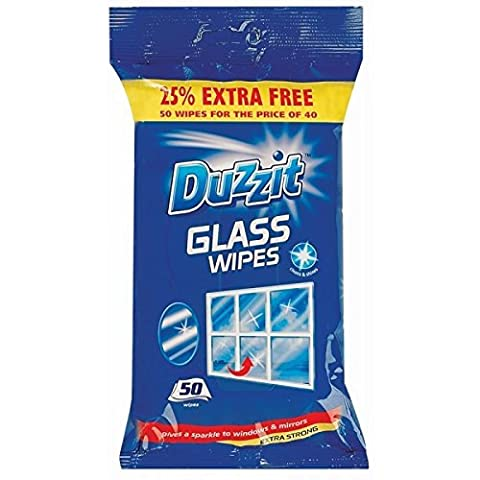 100 Glass Cleaning Wipes 2 Packs of 50