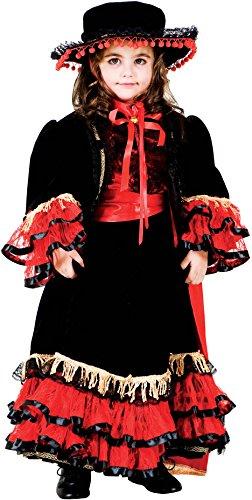 Carnevale Venizano CAV8954-S - Kinderkostüm BALLERINA DI FLAMENCO - Alter: 7-10 Jahre - Größe: (Ballerina Di Kostüm Flamenco)