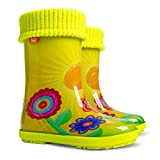 Stivali da pioggia per bambini, con fodera in pile, Giallo (Sun), 24 EU-25 EU Bambino