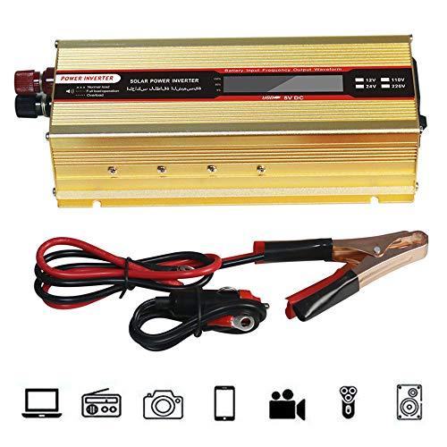 NBQABN 2000W Peak 4000W Inverter a Onda sinusoidale Pura DC 12V 24V AC a 220V, Porta di Ricarica USB e Collegamento Diretto alla Batteria dell'auto, per Laptop, Smartphone,12vTo220v