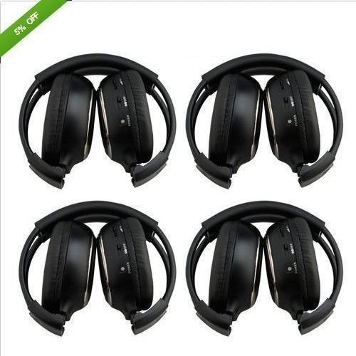 LightInTheBox ®2Pair 4Pack Folding Universal Rear Entertainment System Infrared Headphones Wireless IR DVD Player Head Phones for in Car TV Video Audio Listening