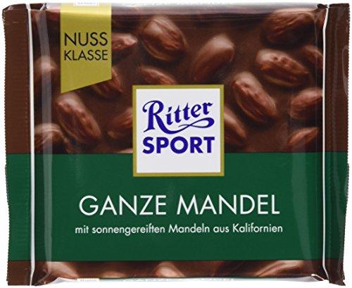 Preisvergleich Produktbild RITTER SPORT Ganze Mandel (11 x 100 g),  Vollmilchschokolade mit knackigen,  ganzen Mandeln,  handverlesen aus Kalifornien,  Tafelschokolade