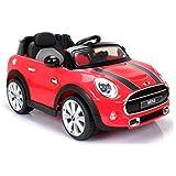 MINI COOPER S, producto BAJO LICENCIA, con mando a distancia 2.4Ghz, Rojo, asiento de cuero