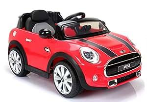 mini cooper s elektrisches auto f r kinder 2 motoren rot 2 4 ghz fernbedienung original. Black Bedroom Furniture Sets. Home Design Ideas