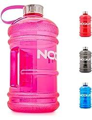Water Jug - Trinkflasche - Sport-Wasserflasche - Trainingsflasche - Water Gallon - XXL Wasser-Kanister - Gym Bottle - 2.2 Liter - BPA & DEHP frei - perfekt für Crossfit, Fitness, Bodybuilding, MMA & Krafttraining von NOQUIT