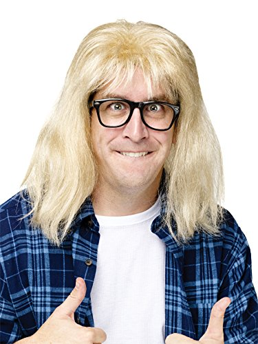 Wayne's World Garth Algar Wig & Glasses Costume Set