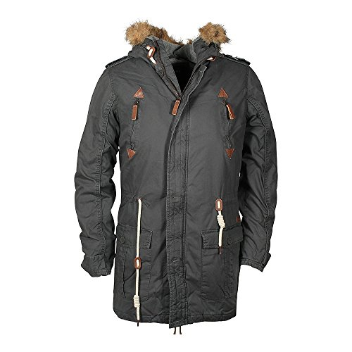 !Solid Herren Parka Jacket - Probert Grau (Dark Grey 2890 Dark Grey)
