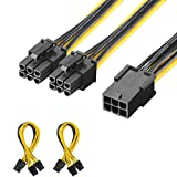 J & D [2er Pack] 6 Pin Buchse auf Dual 6 Pin Stecker PCI Express (PCIe) Graphic Video Card Power Splitter Kabel – 20 cm 2 Pack (8 inch / 20cm)