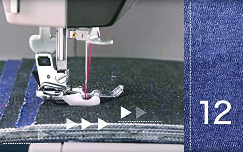 Toyota PowerFabriQ – Macchina da Cucire a Braccio Libero 17 programmi, per Materiale Extra Spesso, con Piedino Scorrevole e Molti Accessori, Cucire possibili
