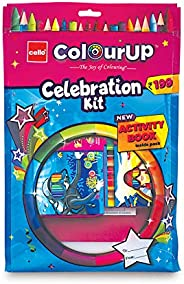 Cello ColourUp Celebration Kit - Mega Gift Pack|Colouring Kit for Kids|Combo Hobby Pack with Colours and Activ