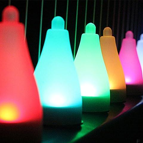 7-Color Changing Luce ad Alimentazione Solare da Giardino per esterni, impermeabile RGB LED luci decorazione da appendere per paesaggio giardino di casa vialetto San Valentino Matrimonio vacanza festa di Natale, confezione da 5