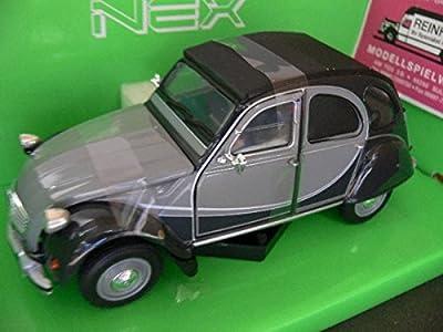 Welly Nex Diecast Model - Citroen 2CV Charlrston Burgandy Car - 1:24 Scale 24009 von Welly