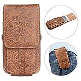 """Borsa Clip Cintura per Smartphone, Moon mood 5.5"""" Universale Borsello da Uomo Sacchetto con Clip Cintura Pochette in PU Pelle Waist Bag Belt Pouch per iPhone 6 7 8 Plus Samsung S7 S6 S5 Huawei P8 P9"""