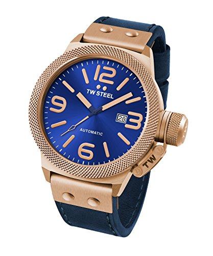 Reloj Automático TW Steel para Hombre con Azul Analogico Y Azul Cuero CS66