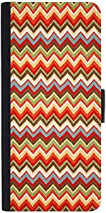 Snoogg Waves Pattern Reddish 2525 Graphic Snap On Hard Back Leather + Pc Flip...
