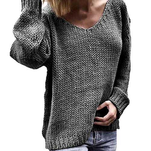 Subfamily Damenbekleidung Pullover Damen Winter Damenmode Herbst Tiefem V Ausschnitt Langarm Solid Color Bluse Plus Frauen Multicolor Strickpullover Cardigan Langshirt