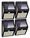 [4 Pack] Upgrade 140LED Solar Security Lights Outdoor Motion Sensor, Litogo 1200mAh Waterproof Solar Powered 270ºWide Angle Wall Lights Outside 3 Modes for Garden Fence Door Garage Backyard Pathway