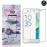 Bear Village® Sony Xperia X Displayschutzfolie, Anti-Fingerabdruck, Keine Luftblasen, 3D Touch 9H Schutzfilm aus Gehärtetem Glas für Sony Xperia X, 2 Stück -