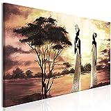 murando - Bilder Afrika Frau 120x40 cm - Vlies Leinwandbild - 1 Teilig - Kunstdruck - modern - Wandbilder XXL - Wanddekoration - Design - Wand Bild - Massai h-A-0092-b-a