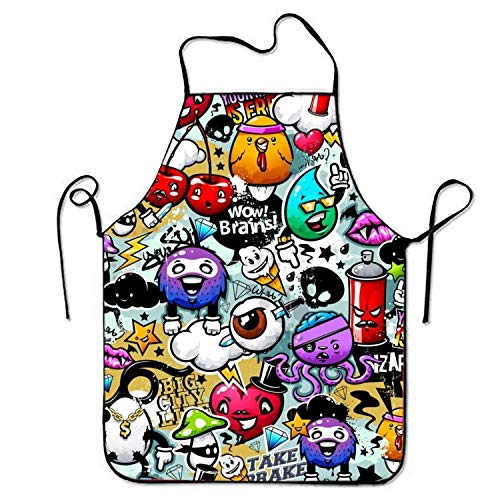 nicorn Apron for Baking Crafting Gardening Cooking Durable Easy Cleaning Creative Bib for Man and Woman Standar Size ()